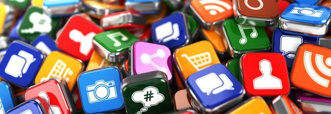 Gerenciamento Inteligente - ícones de redes sociais